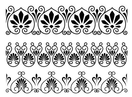 magnificence: Set of floral vintage embellishments for ornate and decoration Illustration