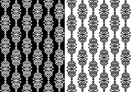 Abstract celtic seamless background with decorative elements in two variations Vector