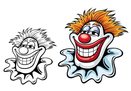 buffoon: Cartoon circus clown for carnival, party or another entertainment design Illustration