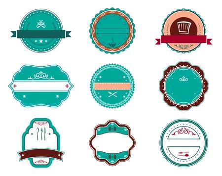 Food and restaurant labels set for design
