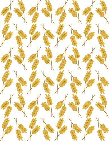 millet: Seamless background with wheat ears for harvest design