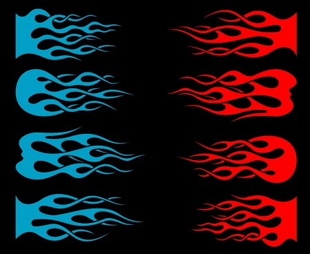 Set of tribal flames for tattoo and mascot design Stock Vector - 14569096