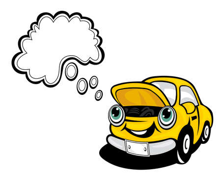 Smiling cartoon car for repair concept design Vector