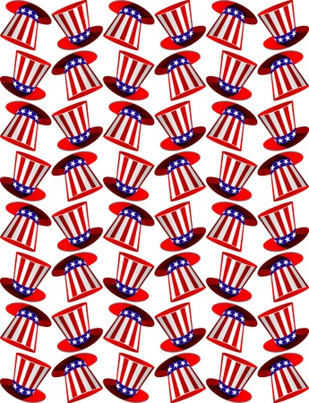 Seamless background with american symbols for national design Stock Vector - 14760012