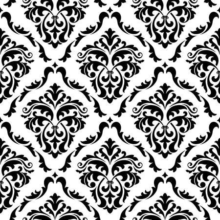Medieval floral seamless in damask style for design Vector
