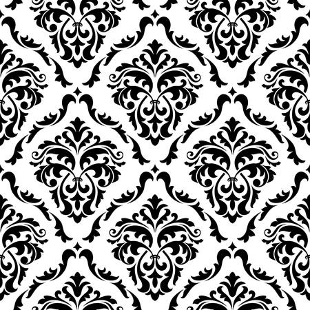 Middeleeuwse bloemen naadloze damast in stijl voor ontwerp