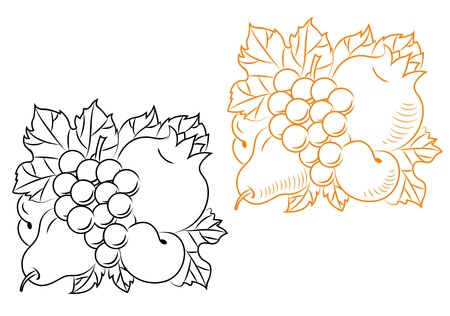 Fruits harvest composition for embellishment and ornate Vector
