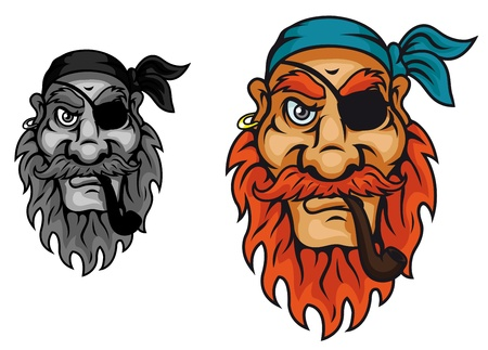 Old pirate captain head for mascot design Stock Vector - 14933236