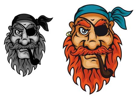 Old pirate captain head for mascot design Stock Vector - 14933236