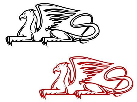 Vintage griffin for heraldic or tattoo design Stock Vector - 14933224