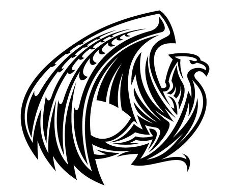Heraldic griffin bird mascot in retro style Stock Vector - 14933240