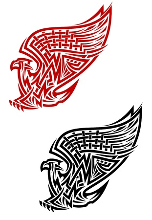 Griffin symbol in celtic style for tattoo or heraldry design Vector
