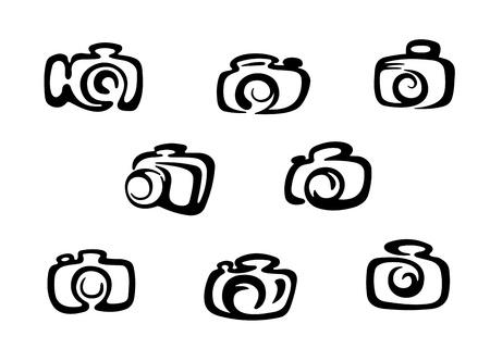 camera symbol: Set of camera symbols and icons