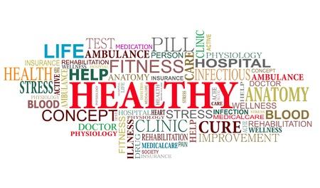 signos vitales: Salud y cuidado nube etiquetas para diseño web
