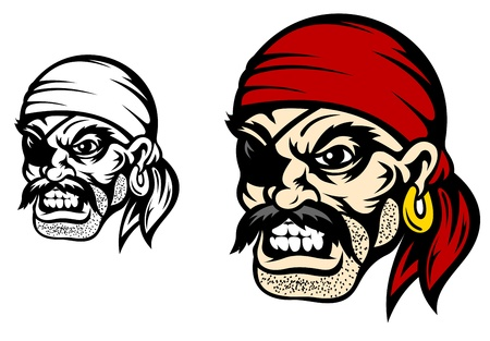 Danger flibuster head for mascot or tattoo design Vector