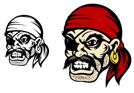 Danger flibuster head for mascot or tattoo design Stock Vector - 15793494