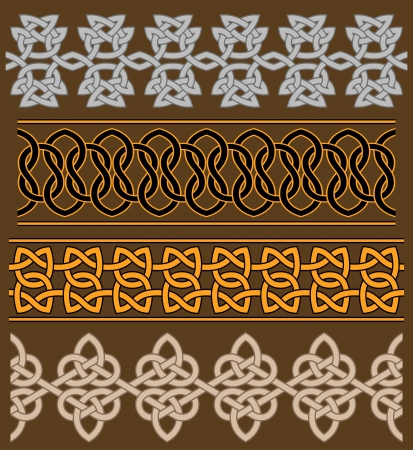 Set of celtic ornaments and patterns for ethnic design Vector