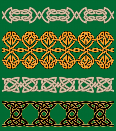 celtic frame: Celtic embellishments and ornaments for ornate and decoration