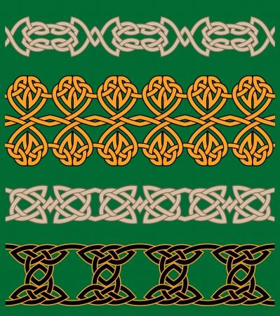 keltische muster: Celtic Verzierungen und Ornamente für kunstvolle und Dekoration Illustration