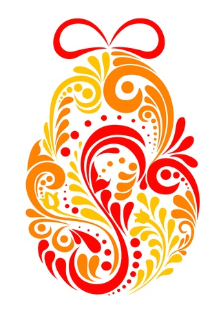Easter egg in floral style Vector