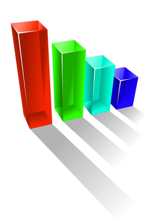 growing business: Growing business chart in glossy style for success concept Illustration