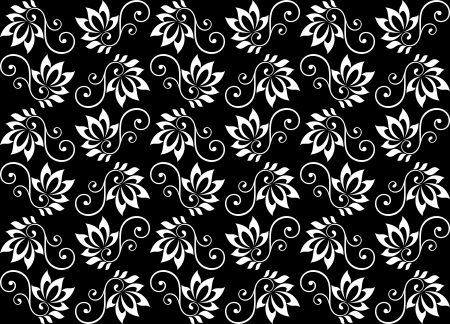 Retro floral seamless pattern for wallpaper or background design Vector