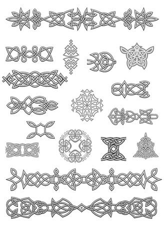 occult: Celtic adornos y adornos para el dise�o y decorar Vectores