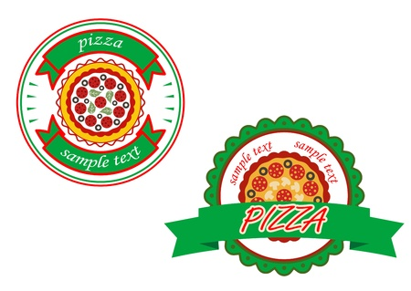 Italian pizza banners set for cafe and fast food design Vector
