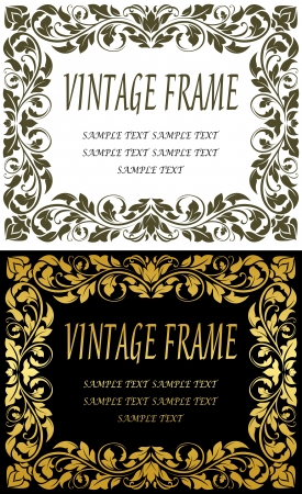 Vintage frames in retro floral style for luxury design Vector