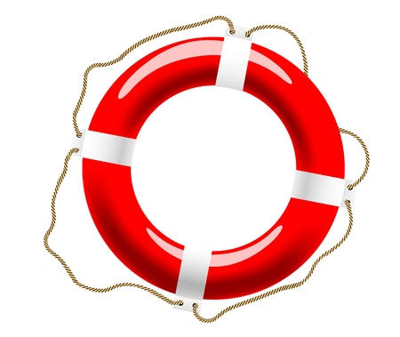 life support: Life buoy with ropes for help and safety concept design