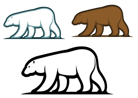kodiak: Bear mascots in cartoon style isolated on white background