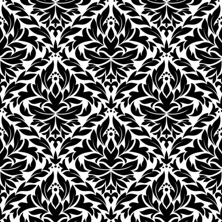 Damask vintage seamless pattern background for wallpapers or retro design Stock Vector - 17617847