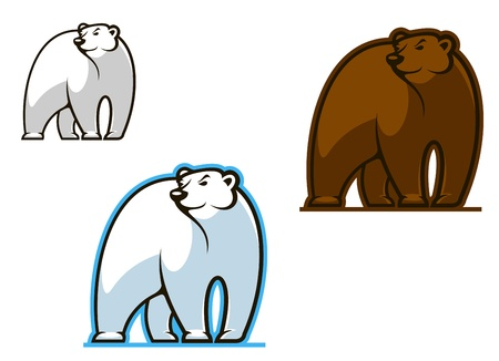 grizzly: Polar and brown bear for mascot or another design Illustration