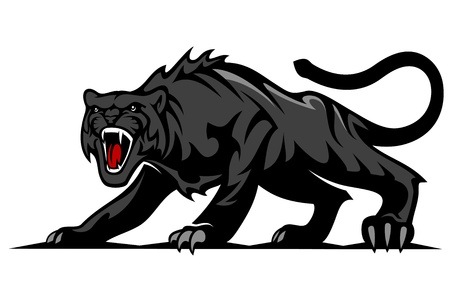 Danger black panther for mascot and tattoo design Vector