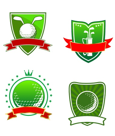 Golf heraldic emblems and symbols for sports design Vector