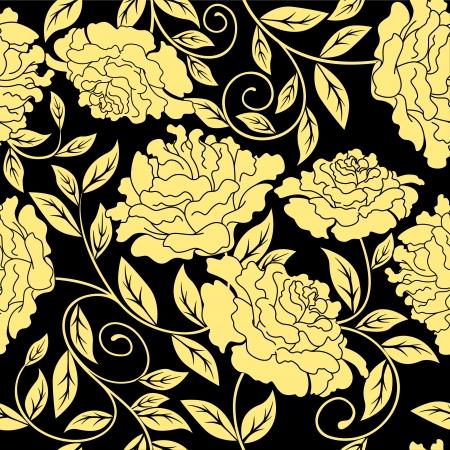 Bloemen naadloos in abstracte stijl te verfraaien of achtergrond ontwerp