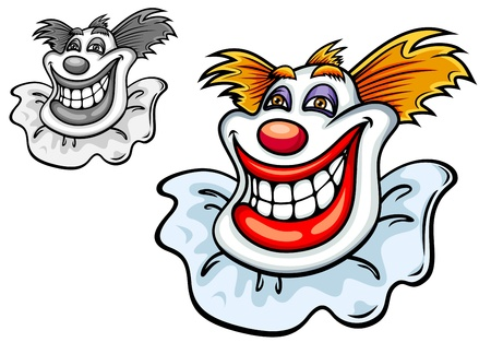 Old circus clown in cartoon style for entertainment design Vector