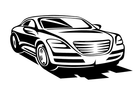 Abstract modern car for racing sports design Vector