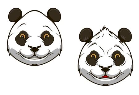 head for: Funny chinese panda bear head for mascot design Illustration