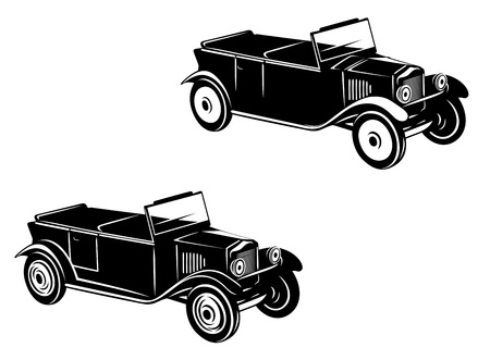 Retro car of 1920-1930 year in two variations Vector