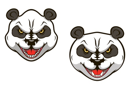Angry panda bear head for sports mascot design Vector