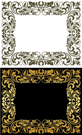Elegance frame in floral style for luxury design Vector