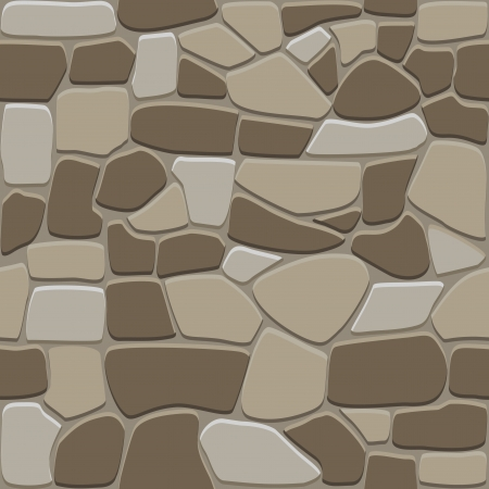 cobble: Seamless stone pattern for background and wallpaper design Illustration