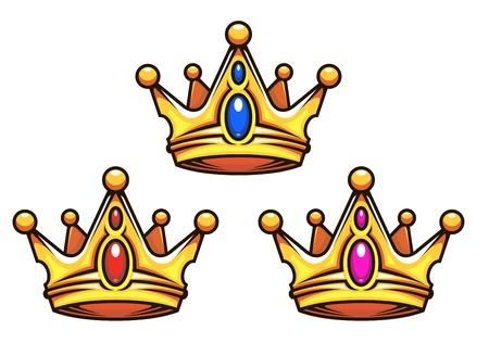 colden: Colden royal crowns with jewelry elements for heraldry design