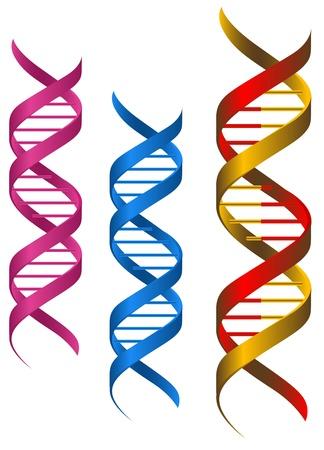 gene: DNA-elementen en moleculen voor de wetenschap en de geneeskunde ontwerp Stock Illustratie