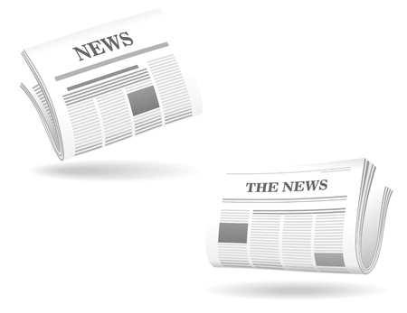 newsprint: Newspaper realistic icons for web and internet design