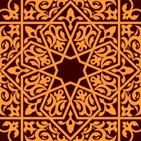 ペルシア: 背景デザインをアラビアおよびイスラム教のシームレスな飾り