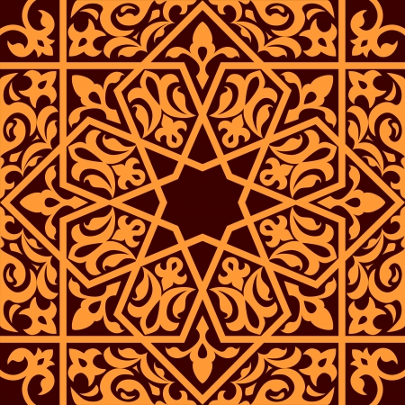 Arabic and islamic seamless ornament for background design Vector