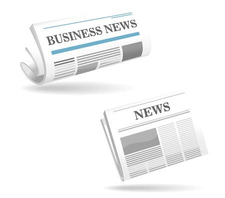 Icônes réalistes journaux pour le web ou d'une autre conception