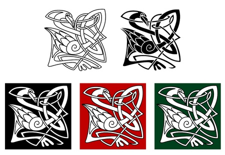 bird  celtic: Heron bird in celtic style with ornamental elements